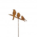 Metal plug 'Bird Trio', height 120cm, 3 Bi